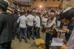 Hillula anual del rabino Shimon Bar Yochai, en Meron 2018 Foto de archivo