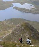 hillwalking Шотландия Стоковое фото RF