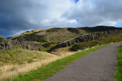 Hillwalking Path at Arthur's Seat Stock Photography