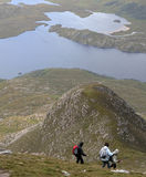 Hillwalking in Scotland Royalty Free Stock Photo