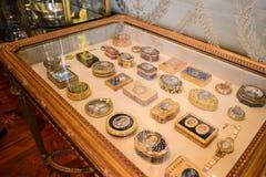 Hillwood nieruchomości i Muzealna biżuterii pudełka kolekcja obraz stock