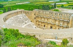 The hilly Aspendos Royalty Free Stock Image