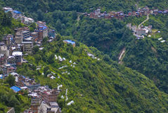 Hilly City. A Tibetan city on a hill sharing its border with Nepal Royalty Free Stock Image