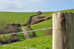 Hilly coastal road. Going up into the distance Royalty Free Stock Images