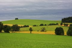 Hilly country Royalty Free Stock Photos
