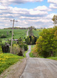 Hilly country road Royalty Free Stock Photos