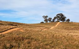 Hilly country road near Oberon. Australia. Royalty Free Stock Photography