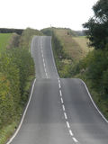 Hilly country road Royalty Free Stock Images