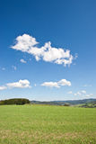 Hilly countryside in summer Stock Photo