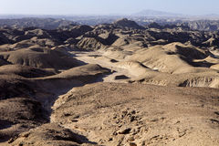 Hilly desert in Central Namibia Royalty Free Stock Photos