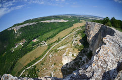 Hilly district from the height of bird's flight. Crimea. Kachy-K Royalty Free Stock Photo