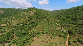 Hilly Greek Countryside stock footage