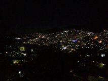 Night view of Kohima city. A hilly kohima city in India with amazing lights royalty free stock image
