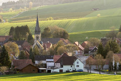 Hilly landscape and country town in Lower Saxony Royalty Free Stock Image