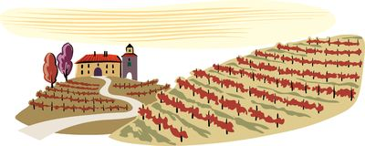 Hilly landscape, cultivated vineyards. View of hilly landscape, cultivated vineyards Royalty Free Stock Photos