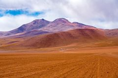 Hilly landscape at the dormant volcano in Uyuni. Bolivia royalty free stock photo