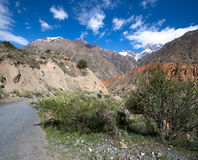 Hilly landscape in the Fan Mountains. Pamir. Tajikistan Royalty Free Stock Image
