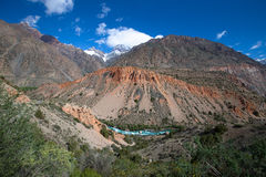 Hilly landscape in the Fan Mountains. Pamir. Tajikistan Royalty Free Stock Images