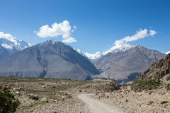 Hilly landscape in the Fan Mountains. Pamir. Tajikistan.  Royalty Free Stock Photo