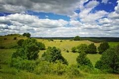 Hilly landscape Stock Photo