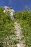 Polish Jurassic Highland. Hilly landscape with Jurassic limestone rocks Royalty Free Stock Images