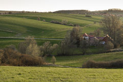 Hilly landscape in Lower Saxony Royalty Free Stock Photo