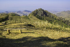 Hilly Landscape Nan Thailand Royaltyfri Fotografi