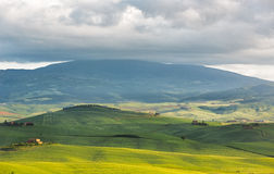 Hilly landscape near Pienza, Tuscany, Italy Stock Photos