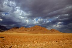 Hilly landscape in northeastern Namibia Stock Photo