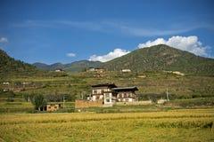 Hilly landscape, Paro, Bhutan Stock Photos