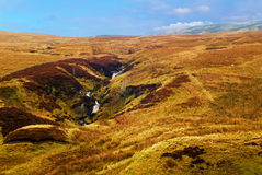 Hilly landscape in Scotland Royalty Free Stock Photo