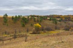 Hilly landscape in Sumskaya oblast, Ukraine Stock Photo