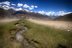 Hilly landscape in the Tajikistan. Pamir Royalty Free Stock Photography