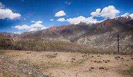 Hilly landscape in the Tajikistan. Pamir Royalty Free Stock Photos