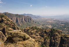 Hilly landscape, Tepoztlan, Mexico Stock Image