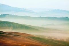 Hilly landscape of Tuscany Stock Image