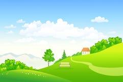 Hilly Landscape verde libre illustration