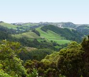 Hilly panoramic view at the Azores royalty free stock photography