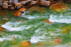 Hilly river stock photo