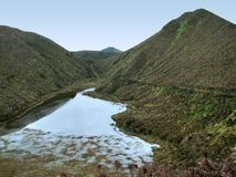 Hilly scenery at the Azores Stock Photo