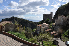 Hilly sicily Royalty Free Stock Images
