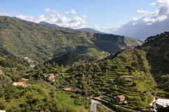Hilly sicily. Hilly landscape on italian island of sicily stock image