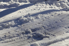 Hilly snow surface Stock Photos
