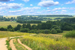 Hilly summer landscape Stock Photography