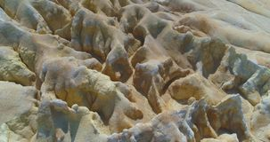 Hilly terrain forming a beautiful relief. Aerial footage Hilly terrain forming a beautiful relief stock video footage