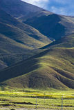 Hilly Tibetan landscape Royalty Free Stock Image