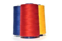 Hilo azul y amarillo rojo Foto de archivo