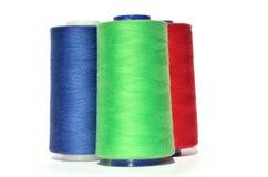 Hilo azulverde y rojo Imagen de archivo