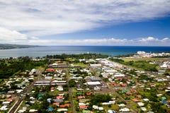 Hilo, Big Island, Hawaii. Aerial view over Hilo on Big Island, Hawaii, USA Stock Photos