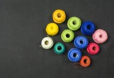 Hilo colorido del ganchillo Fotografía de archivo libre de regalías